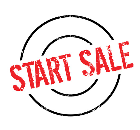Start Sale rubber stamp