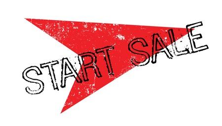 Start Sale rubber stamp