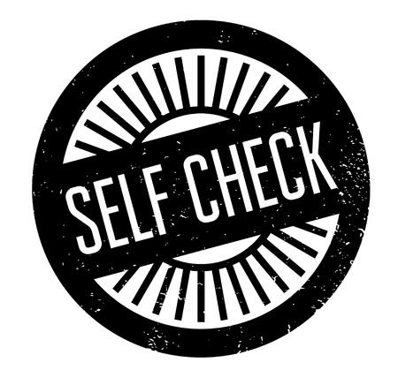 Self Check rubber stamp