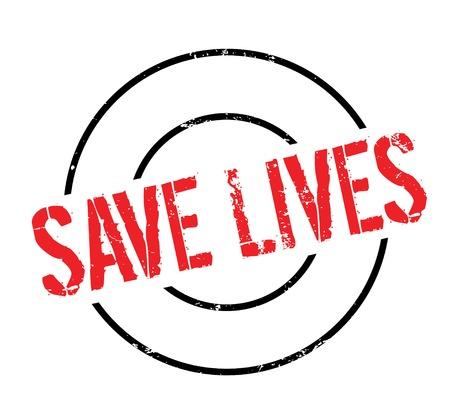 Save Lives rubber stamp