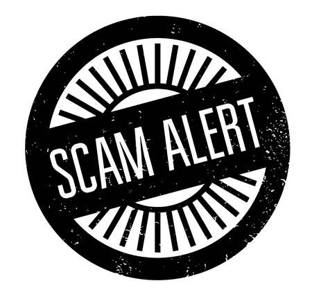 extortion: Scam Alert rubber stamp