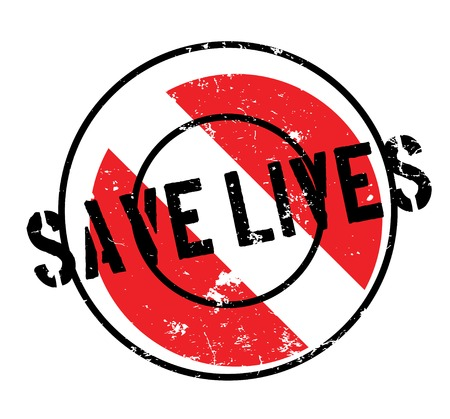 er: Save Lives rubber stamp