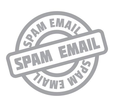 website header: Spam Email rubber stamp