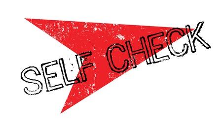 セルフ チェック ゴム印  イラスト・ベクター素材