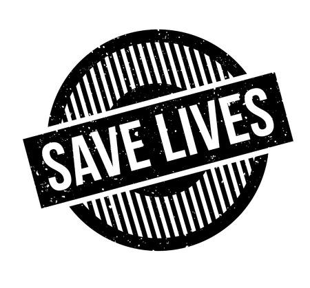 Save Lives rubber stamp Vektoros illusztráció