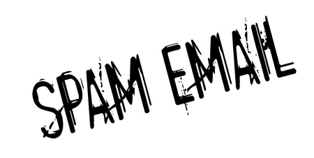 unsolicited: Spam Email rubber stamp