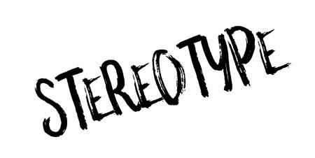 racismo: Sello de goma del estereotipo