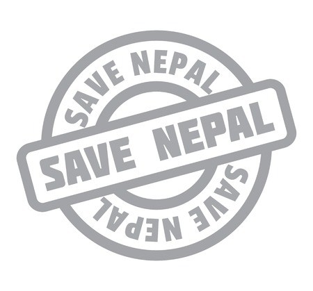 Save Nepal rubber stamp