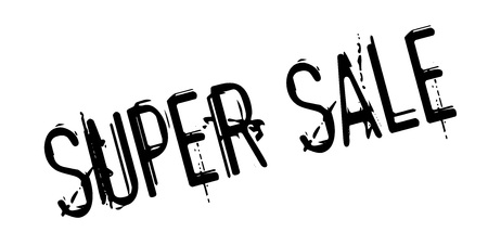 Super Sale rubber stamp Illustration