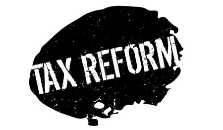 Timbro di gomma della riforma fiscale