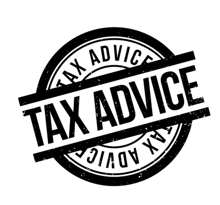 Tax Advice rubber stamp
