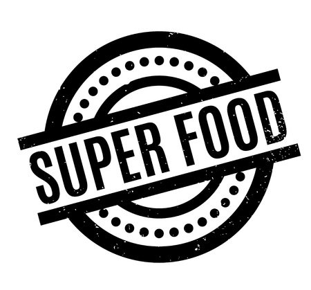 Super Food rubber stamp Stock Vector - 83478109