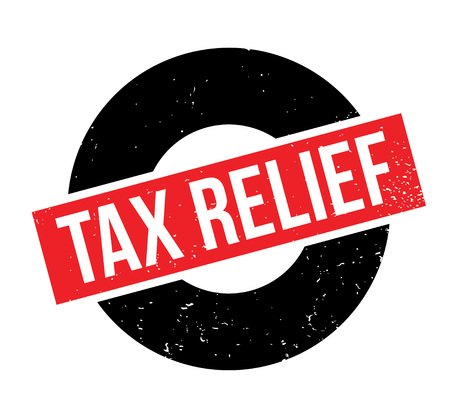 Tax Relief rubber stamp Ilustrace