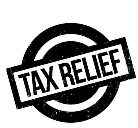 treaty: Tax Relief rubber stamp Illustration