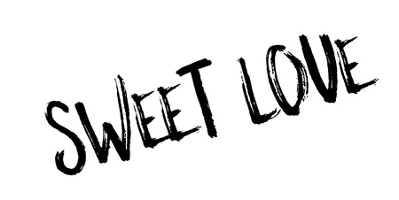Sweet Love rubber stamp