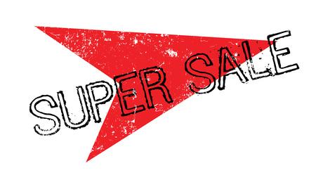 Super Sale rubber stamp Illustration