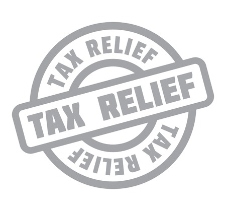 Tax Relief rubber stamp 向量圖像