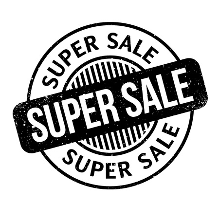 Super Sale rubber stamp Иллюстрация