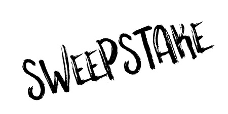 Sweepstake rubber stamp Illustration