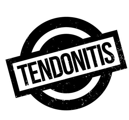 inflamed: Tendonitis rubber stamp Illustration