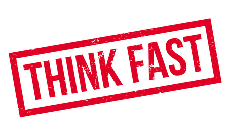 Think Fast rubber stamp Ilustração