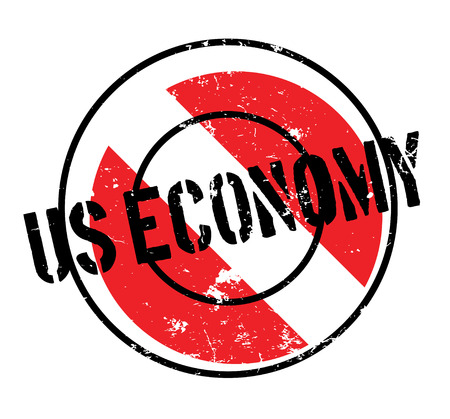 Us Economy rubber stamp. Grunge design with dust scratches. Effects can be easily removed for a clean, crisp look. Color is easily changed. Illustration