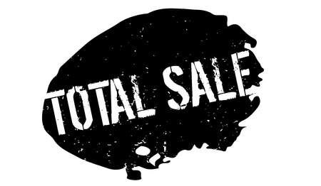Total Sale rubber stamp. Grunge design with dust scratches. Effects can be easily removed for a clean, crisp look. Color is easily changed. Illustration