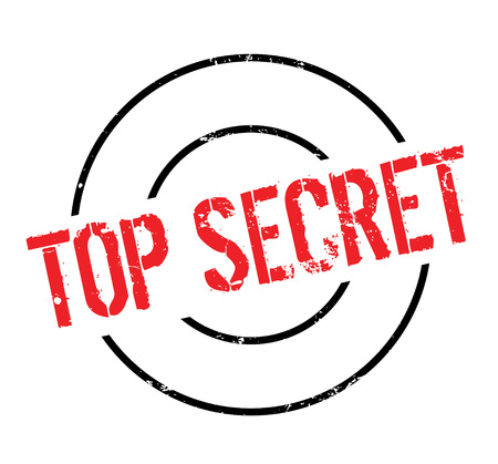 Top Secret rubber stamp. Grunge design with dust scratches. Effects can be easily removed for a clean, crisp look. Color is easily changed. Illustration