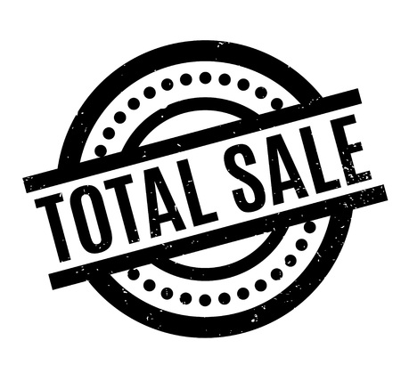 Total Sale rubber stamp