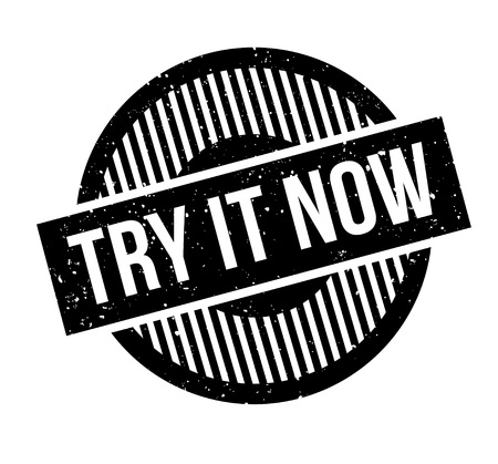 Try It Now rubber stamp Stok Fotoğraf - 83566947