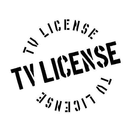 Tv License rubber stamp