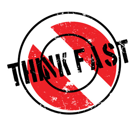 Think Fast rubber stamp Illustration