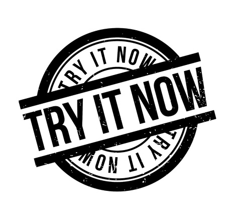 Try It Now rubber stamp Stok Fotoğraf - 83567057