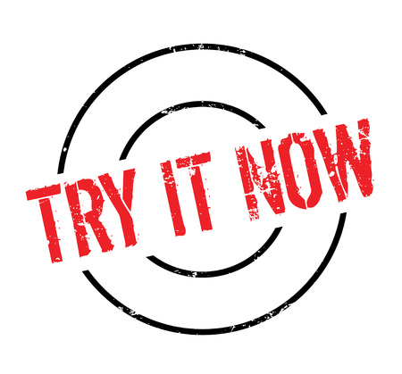 Try It Now rubber stamp Stok Fotoğraf - 83567042