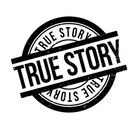 truthful: True Story rubber stamp