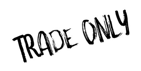 Trade Only rubber stamp