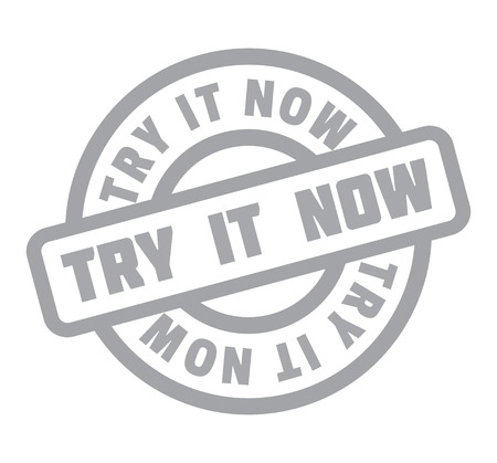 Try It Now rubber stamp Stok Fotoğraf - 83567139