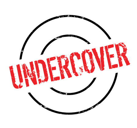Undercover rubber stamp Illustration