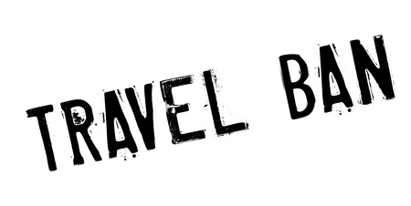 Travel Ban rubber stamp. Grunge design with dust scratches. Effects can be easily removed for a clean, crisp look. Color is easily changed.