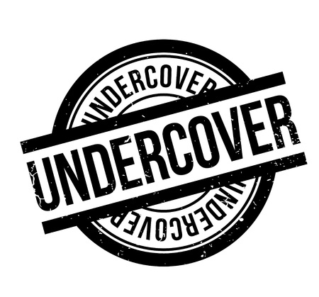 Undercover rubber stamp. Grunge design with dust scratches. Effects can be easily removed for a clean, crisp look. Color is easily changed. Illustration