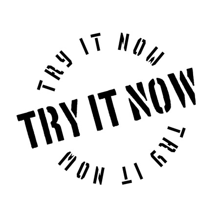 Try It Now rubber stamp Stok Fotoğraf - 83567146