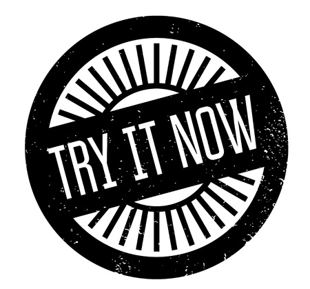 Try It Now rubber stamp Stok Fotoğraf - 83567257