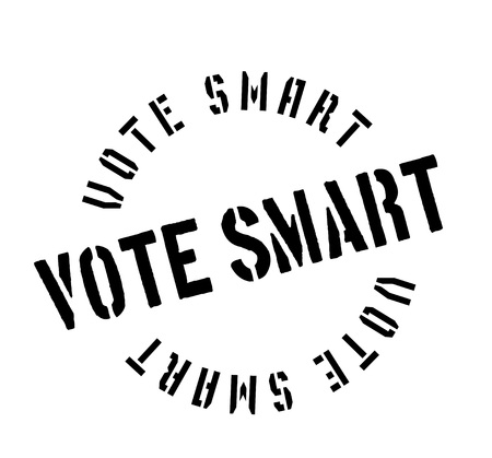 Vote Smart rubber stamp