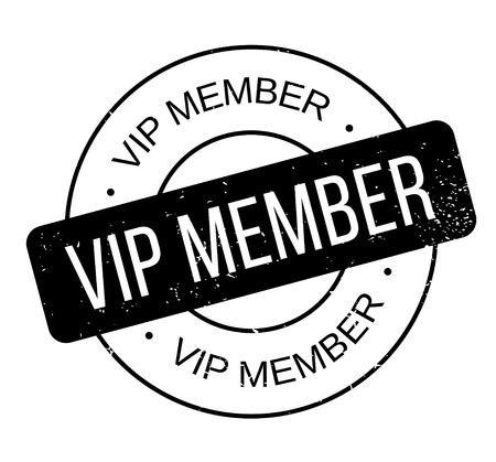 Vip Mitglied Stempel Standard-Bild - 83627174