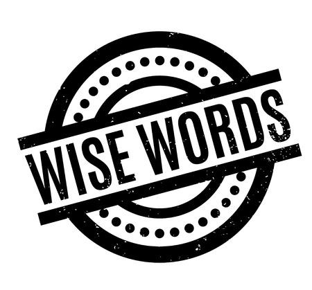 Wise Words rubber stamp Illustration