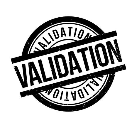 validation: Validation rubber stamp Illustration