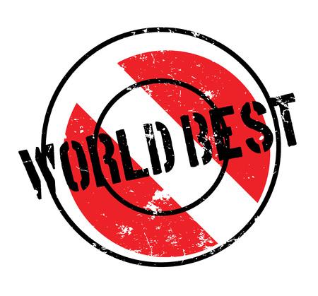 World Best rubber stamp
