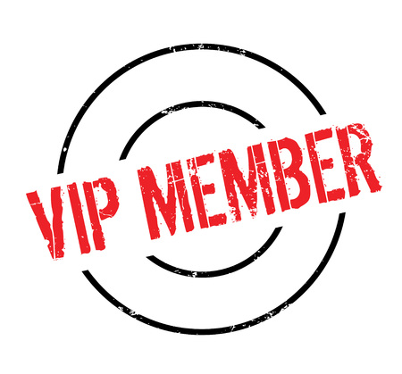 Vip Mitglied Stempel Standard-Bild - 83627655