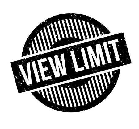 View Limit rubber stamp