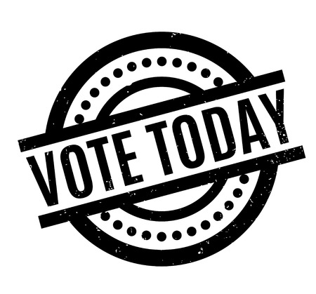 Vote Today rubber stamp Illustration